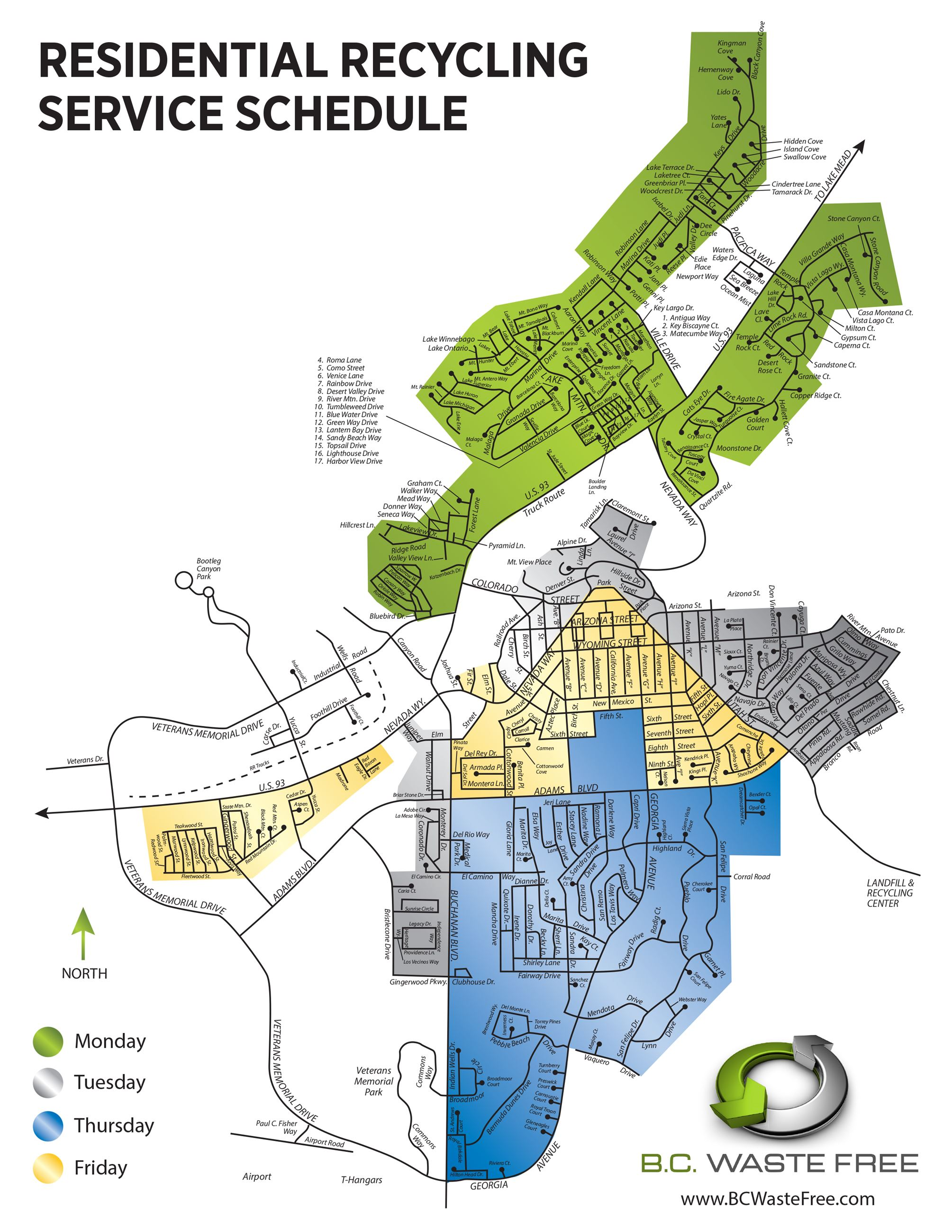 Recycling Service Schedule Map