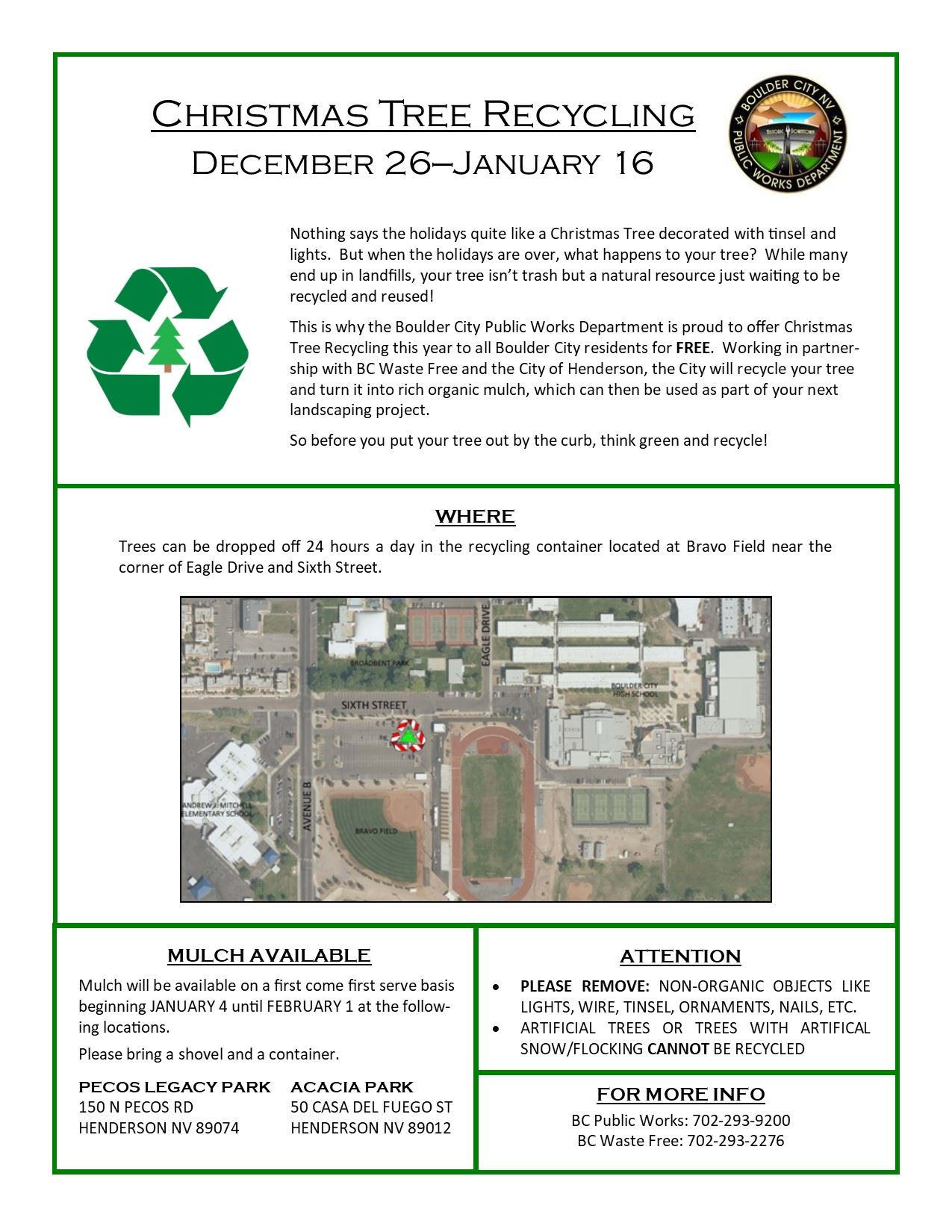 Xmas Tree Recycling Flyer 2018