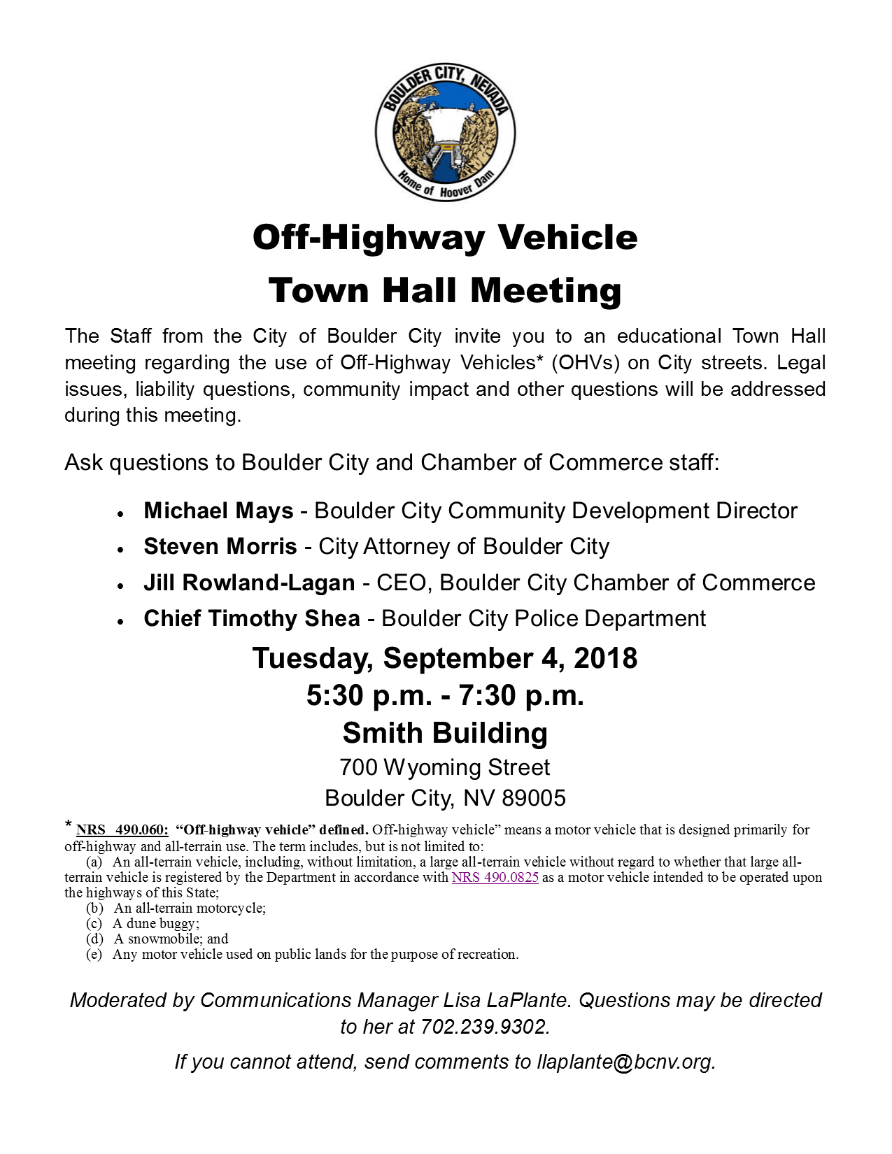 9.4.18 OHV Town Hall