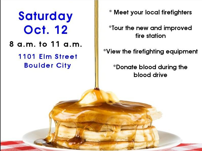 pancake breakfast flyer for October 12, 2019 event