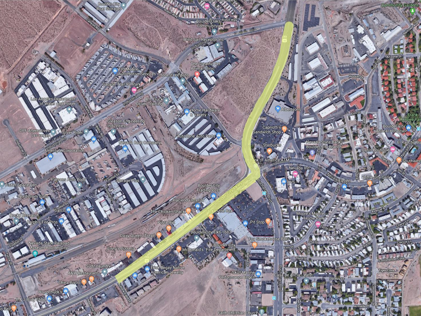 Boulder City Parkway Traffic Shift Paving Work Nov