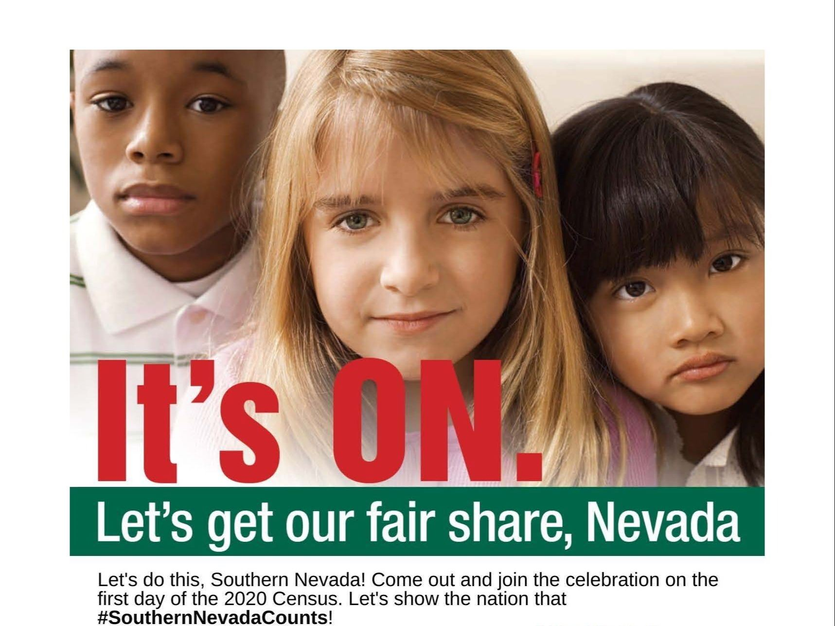 Flyer for Census Event on March 12  at Boulder City Library