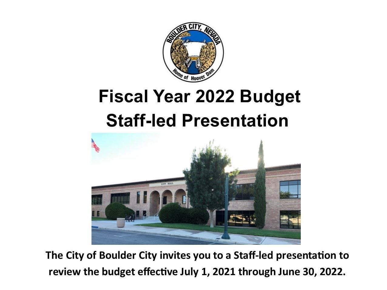 2022 Budget Staff-led Presentation