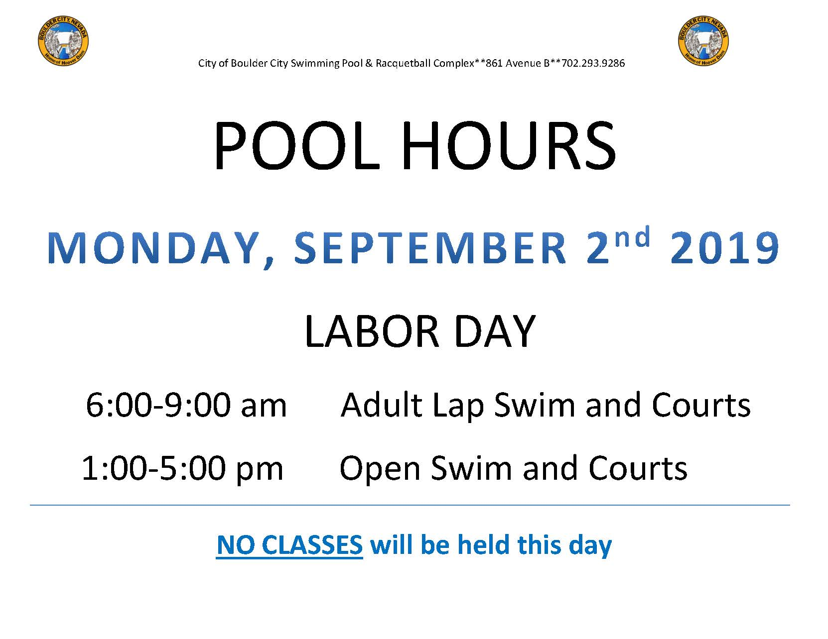LABOR Day Hours 2019