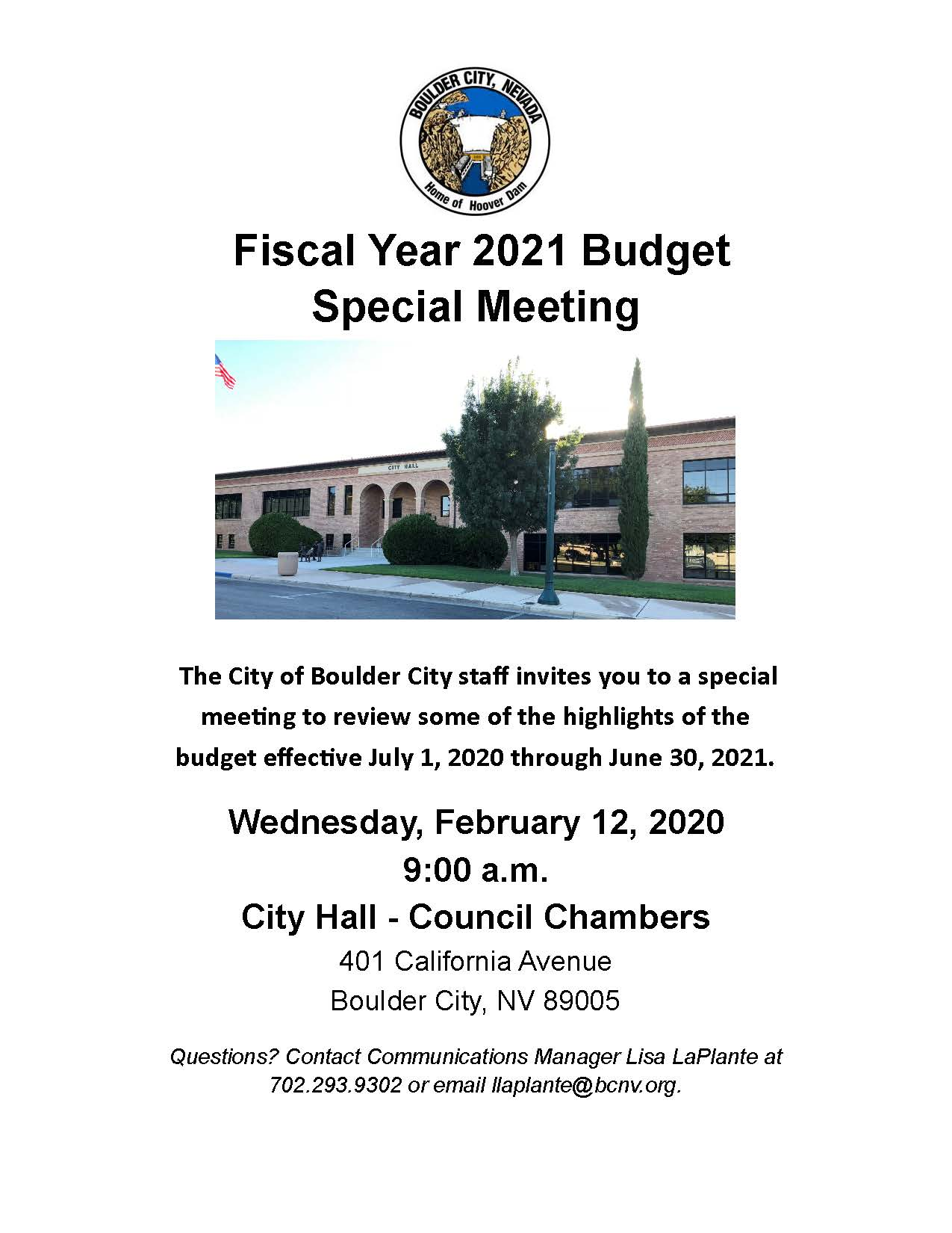 2.12.2020 Budget Special Meeting